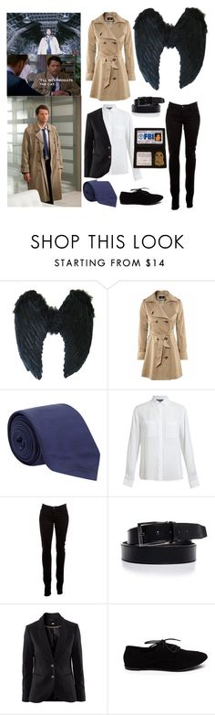 """Cosplay- Castiel from Supernatural"" by stetsonfashion ❤ liked on Polyvore featuring Lanvin, Vince, J Brand, Chicnova Fashion, women's clothing, women, female, woman, misses and juniors"