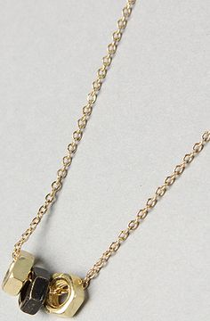 """*Accessories Boutique """"The Nuts and Bolts Necklace""""  #KARMALOOP 10-20% OFF every order with rep kode LOOPHOLE [easiest kode to remember!] NEVER EXPIRES / UNLIMITED USES! Stack with promo kode (available @ KarmaKodes.com) for additional savings 