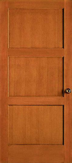 1603lami 3 Lite French Douglas Fir Wood Door W Shaker Sticking