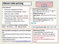 Cake Serving Chart and Pricing - Bing Images Baking Business, Cake Business, Wilton Cakes, Cupcake Cakes, Cupcake Ideas, Cake Chart, Cupcake Prices, Cake Order Forms, Cream Cheese Coffee Cake