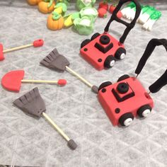 Miniature Lawnmowers and garden tools, these were loads of fun to make for my custom order