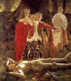Four Queens Find Lancelot Sleeping - Frank Cadogan Cowper, 1877– 1958 ...