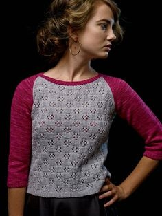 love the feminine version of a baseball tee--but why are all the sweaters so short? Balas Ruby Raglan - Knitscene Spring 2014 - Knitting Daily