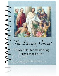 Memorize the Living Christ - with a flipbook for kiddo during sacrament meeting