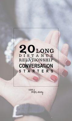 20 Long Distance Relationship Conversation Starters | 1200 Miles Away https://aletalove.wordpress.com/