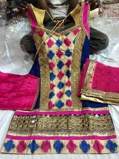 Punjabi Suit 💟💟💟 #attitude #suitsalwar #punjabi #newdesigns #looks✌ For More Follow Pinterest : @reeetk516