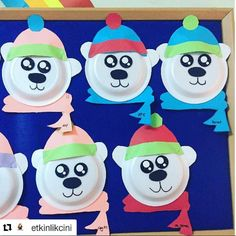 paper plate polar bear craft | Crafts and Worksheets for Preschool,Toddler and Kindergarten