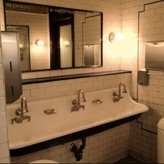 Places I Like to Go -- Literally :) This is the shared wash area at Pastis in NYC.