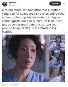 Cristina Yang, Meredith E Cristina, You Are My Person, Hero Movie, Series Movies, Sandra Oh, Beautiful Day, Ouat, Tv Shows