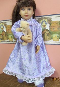 Fits: Kidz N Cats Dolls Handmade OOAK  Sweet Dreams Summer Nightgown Set by Lynsdollclothes on Etsy https://www.etsy.com/listing/237571387/fits-kidz-n-cats-dolls-handmade-ooak