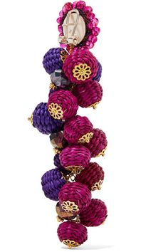 Bibi Marini | Cluster bead, silk and gold-tone earrings | NET-A-PORTER.COM