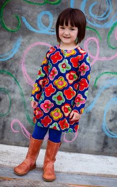 Oilily Dalou Blue Dress #littleskyefall2012
