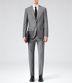 Mens Grey Two Piece Suit - Reiss Youngs