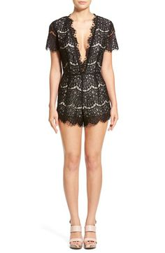 StoreePlunge NeckLace Romper available at #Nordstrom. No longer available.