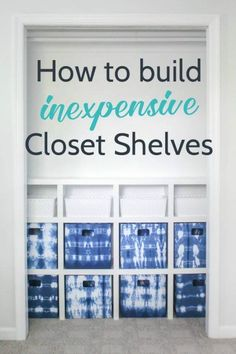 Build your own DIY closet shelves, these closet shelves are easy and inexpensive and the perfect way to organize any closet.  These are especially perfect for kids closets.  #lovelyetc #closet #organize