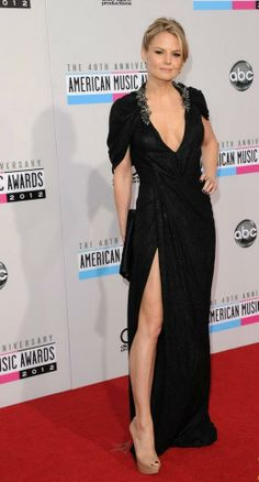 Jennifer Morrison looking radiant in a Abed Mahfouz dress to the 40th Annual American Music Awards