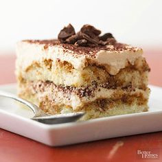 This classic Italian dessert has triple the chocolate for an intense flavor sensation. Purchased ladyfingers are the key to this quick recipe. /