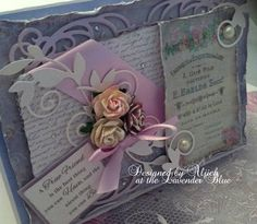 Friend Card, Birthday, Personalized, Handmade by thelavenderblue on Etsy