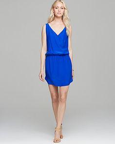 Amanda Uprichard Dress - Double Crossover Silk | Bloomingdale's