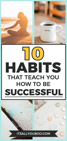 10 Habits that Teach You How to Be Successful Leadership Development, Self Development, Personal Development, Success Mindset, Positive Mindset, Good Habits, Healthy Habits, Habits Of Successful People, Successful Women