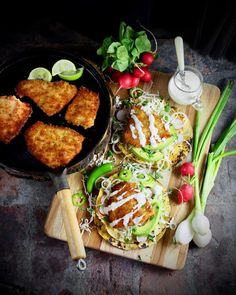 Rockfish Tostadas (fresh, local, sustainable fish) - Taste With The Eyes Mexican Food Recipes, New Recipes, Cooking Recipes, Healthy Recipes, Favorite Recipes, Seafood Dinner, Fish And Seafood, Tostadas, Fish Taco White Sauce