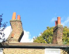 Someone obviously had problems with downdraught on this cottage in, Hampstead