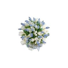 Blue Wedding Bouquet ❤ liked on Polyvore featuring flowers, wedding, floral, plants and backgrounds