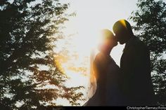 Dream wedding sunset picture