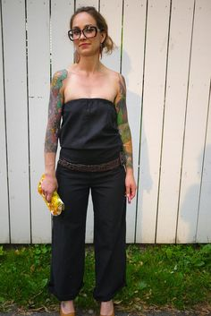 I want to be everything about this look. Tattoos included! Jumpsuit~Romper~Summer Clothing~Retro Jumpsuit