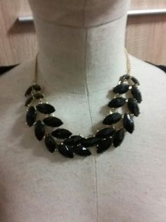 Cerny nahrdelnik listecky H Beaded Necklace, Jewelry, Fashion, Beaded Collar, Moda, Jewlery, Pearl Necklace, Jewerly, Fashion Styles