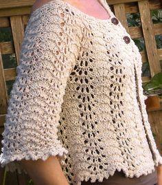 Hırka modelleri genel olarak yazın tercih edilmekte olan ve oldukça fazla ve farklı tasarımlara sahip olan kıyafet çeşididir. Oldukça fazla ve farklı renklere sahip olmasının nedeni ise hırkaların genel olarak değişik kıyafetlerin üzerine giyildiğini ve giyilen kıyafetlerin tasarımı bozmaması sağlan Crochet Bolero Pattern, Crochet Patterns Filet, Baby Knitting Patterns, Crochet Shawl, Crochet Stitches, Crochet Woman, Crochet Baby, Knit Crochet, Summer Knitting