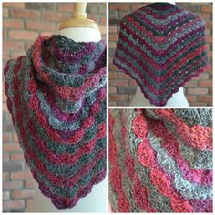 This is the finished pattern of the No Stopping Me Now shawl. The pattern is available for free at MarlyBird.com