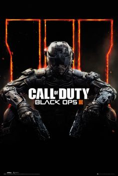 Call of Duty Black Ops 3 Cover - Official Poster. Official Merchandise. Size: 61cm x 91.5cm. FREE SHIPPING