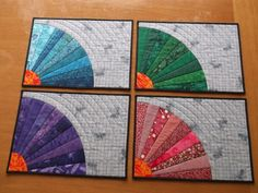 Splendid Color Quilted Placemats Set of 4. $48.00, via Etsy.