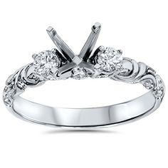 .25Ct Vintage Style Engagement Ring Setting 14K White Gold Pompeii3 Inc. http://www.amazon.com/dp/B00OZDQB6K/ref=cm_sw_r_pi_dp_qeXDvb1HGWSBX
