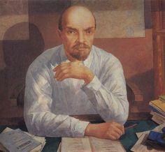 """Kuzma Petrov-Vodkin en Twitter: """"Portrait of Lenin #russianart #kuzmapetrovvodkin… """""""