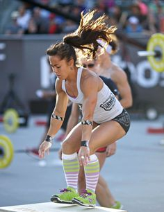 Box Jumps with ANNIE SAKAMOTO sporting her ROCKTAPE