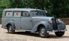 An upcoming British classic #Mercedes auction is almost too good to be true.  Check out the rare models up for sale, including this vintage ambulance.