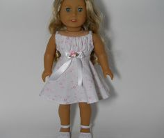 18 inch American Girl doll clothes White/Pink by thesewingshed, $10.99