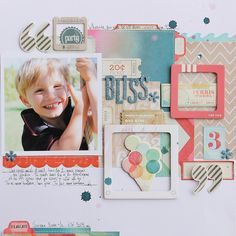 { BLISS / a Crate Paper collage layout }