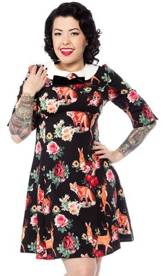 I want this dress! Woodland creatures galore!