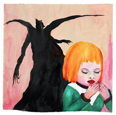 """""""Each morning she prayed that demons would devour her parents."""" - watercolor/acrylic by Marilyn Manson Watercolor Art Landscape, Watercolor Art Diy, Watercolor Art Paintings, Watercolour, Arte Marilyn Manson, Marilyn Manson Paintings, Black Figure, Illustration Artists, Mixed Media Canvas"""