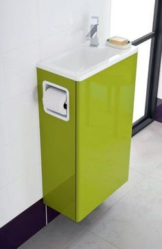would be great in the front WC with so little space. Not in that color though. #Decoracionbaños