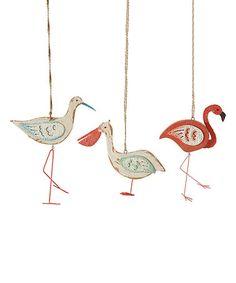 Loving this Distressed Sea Bird Ornament - Set of Three on #zulily! #zulilyfinds