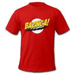 Bazinga The Big Bang Theory Funny Word T-Shirt