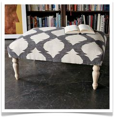 I must make little footstools with interesting old rugs and upholstery like this more often. Like, how many footstools should you have in a house?