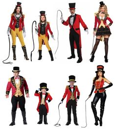 These Circus Costumes Will Give You All the Greatest Showman Vibes Circus Family Costume, Circus Halloween Costumes, Circus Costume, Scary Costumes, Animal Costumes, Family Costumes, Adult Costumes, Costumes Kids, Costume Ideas