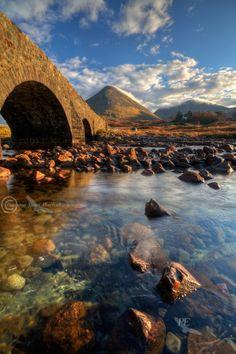 Glamaig. Isle of Skye, Scotland. Sligachan, the Old Bridge.