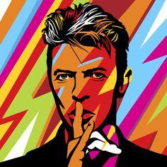 desenho das pessoas com outro fundoDavid Bowie