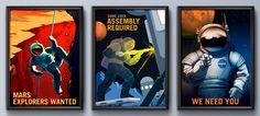 Conoce sobre ¡Marte te necesita! Así son los geniales pósters de la NASA para convencernos